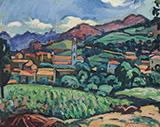 L'eglise de Piana en Corse 1910 By Charles Camoin