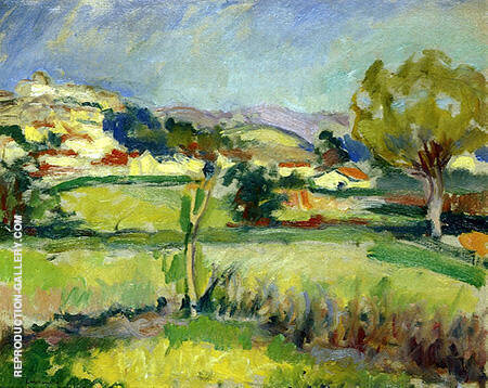 Provencal Landscape 1908 By Charles Camoin - Oil Paintings & Art Reproductions - Reproduction Gallery