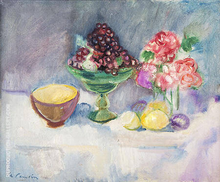 Flowers and Fruits 1912 By Charles Camoin - Oil Paintings & Art Reproductions - Reproduction Gallery