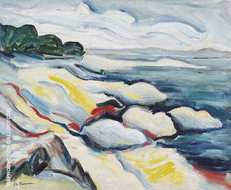 Rocky shore in Corsica By Charles Camoin