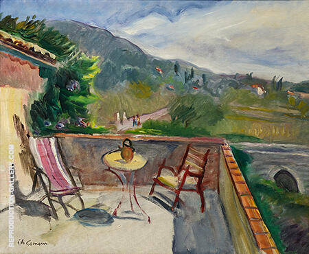 Terrace in Provence Painting By Charles Camoin - Reproduction Gallery