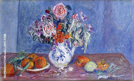 Still Life with Flowers 1942 By Charles Camoin - Oil Paintings & Art Reproductions - Reproduction Gallery