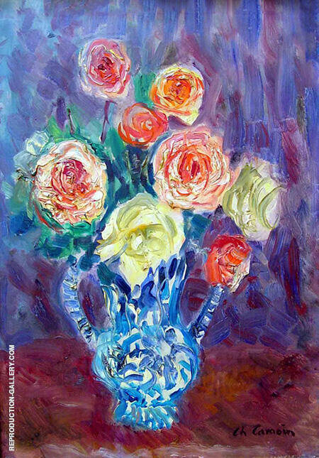 Flowers Still Life By Charles Camoin - Oil Paintings & Art Reproductions - Reproduction Gallery