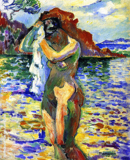 Woman Bather 1906 By Henri Manguin - Oil Paintings & Art Reproductions - Reproduction Gallery