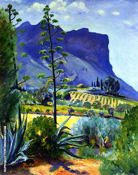 The Aloes in Bloom Cassis 1912 By Henri Manguin - Oil Paintings & Art Reproductions - Reproduction Gallery