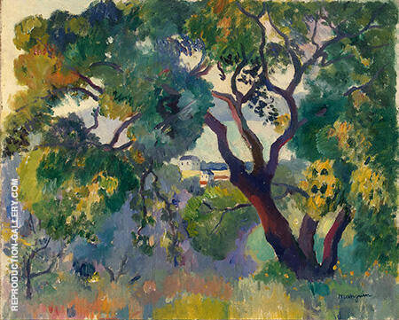 Landscape at St Tropez 1905 Painting By Henri Manguin