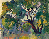Landscape at St Tropez 1905 By Henri Manguin