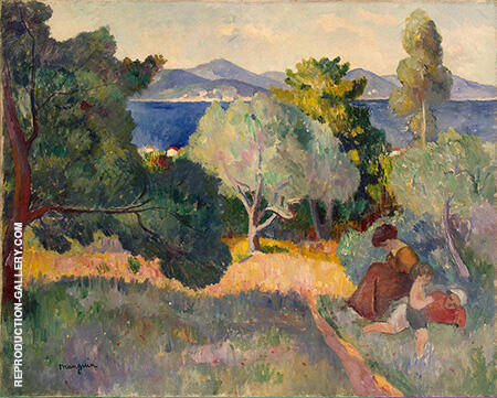 Walk in St Tropez By Henri Manguin