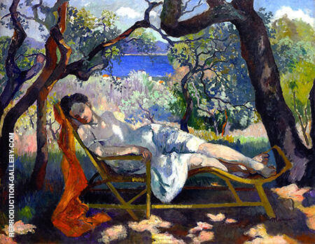 The Rocking Chair 1905 Painting By Henri Manguin - Reproduction Gallery