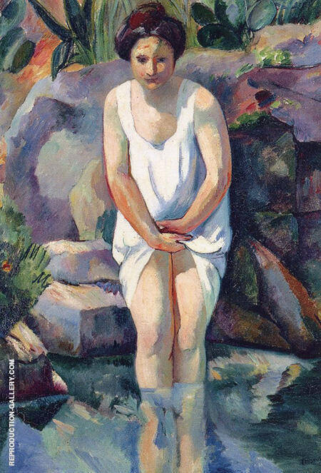 Baigneuse a Cassis Jeanne 1912 By Henri Manguin - Oil Paintings & Art Reproductions - Reproduction Gallery
