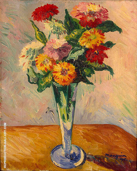 Flowers Painting By Henri Manguin - Reproduction Gallery