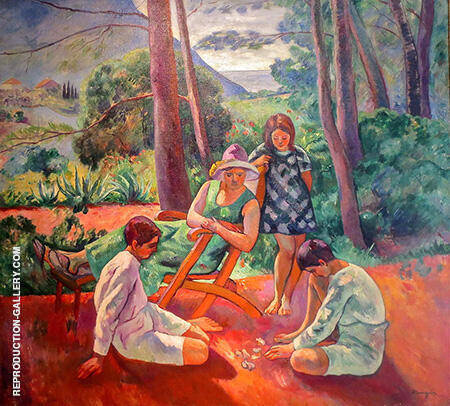Les Osselets c1912 By Henri Manguin - Oil Paintings & Art Reproductions - Reproduction Gallery