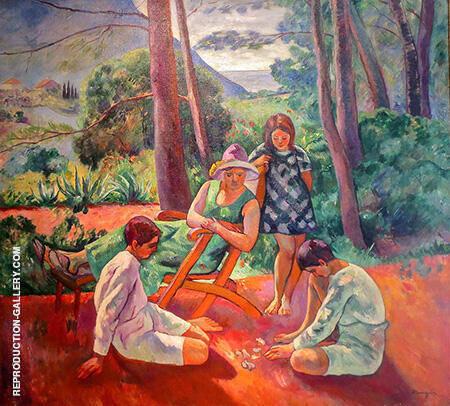 Les Osselets c1912 By Henri Manguin