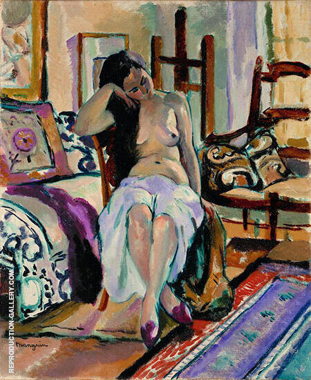 Model in a Painter's Studio By Henri Manguin