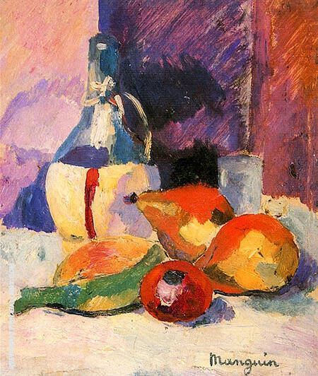 Still Life with Chianti 1905 By Henri Manguin