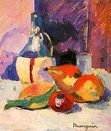 Still Life with Chianti 1905 By Henri Manguin