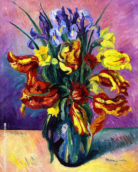 Parrot Tulips 1916 Painting By Henri Manguin - Reproduction Gallery