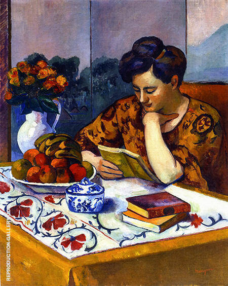 Reader with a Yellow Book 1910 By Henri Manguin