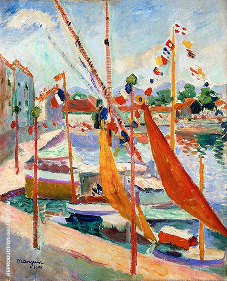 St. Tropez 1905 By Henri Manguin