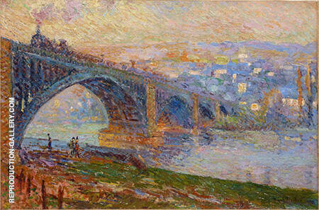 Rouen Le Pont aux Anglais 1905 By Robert Antoine Pinchon - Oil Paintings & Art Reproductions - Reproduction Gallery
