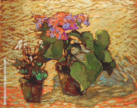 Pots of Geraniums By Robert Antoine Pinchon - Oil Paintings & Art Reproductions - Reproduction Gallery