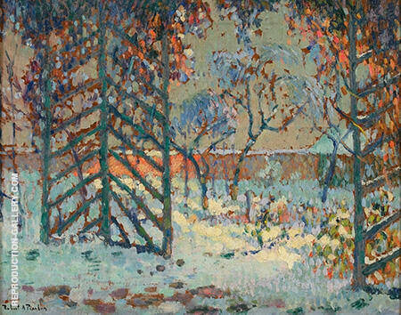 The Pergola Under Snow 1916 By Robert Antoine Pinchon