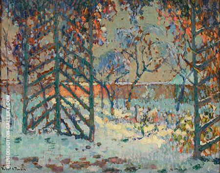 The Pergola Under Snow 1916 By Robert Antoine Pinchon