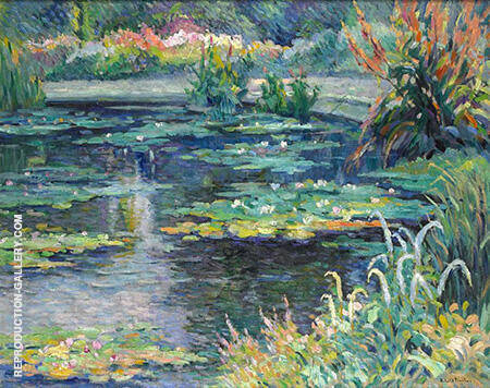 Reproduction of The Pond of Water Lilies 1910 by Robert Antoine Pinchon | Oil Painting Replica On CanvasReproduction Gallery