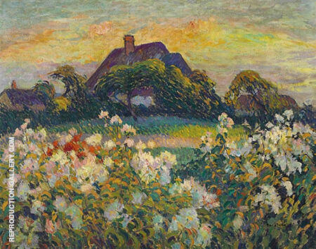 Field Flowers 1915 By Robert Antoine Pinchon - Oil Paintings & Art Reproductions - Reproduction Gallery