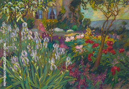 Reproduction of The Iris Garden 1920 by Robert Antoine Pinchon | Oil Painting Replica On CanvasReproduction Gallery