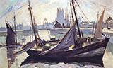 Boats Fecamp 1930 By Robert Antoine Pinchon