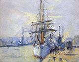 The Harbor of Rouen 1935 By Robert Antoine Pinchon