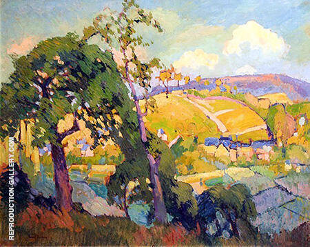 La Vallee De Blainville-Crevon 1905 By Robert Antoine Pinchon - Oil Paintings & Art Reproductions - Reproduction Gallery