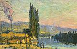 Poplars shore of Eauplet c1908 By Robert Antoine Pinchon
