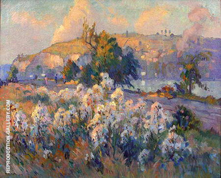 Thistles on the Bank of the Seine By Robert Antoine Pinchon - Oil Paintings & Art Reproductions - Reproduction Gallery