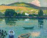 The River Banks of Belbeuf 1909 By Robert Antoine Pinchon