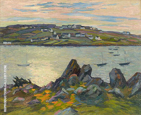 River Bank of Belbeuf 1909 By Robert Antoine Pinchon