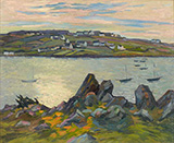 River Bank of Belbeuf 1909 By Robert Antoine Pinchon