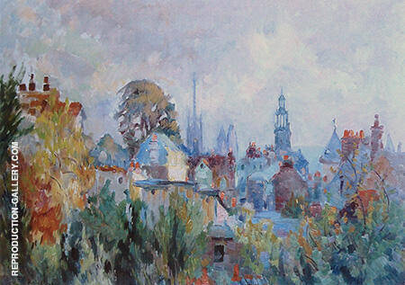 View of Rouen By Robert Antoine Pinchon - Oil Paintings & Art Reproductions - Reproduction Gallery