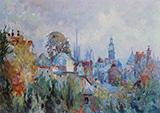 View of Rouen By Robert Antoine Pinchon