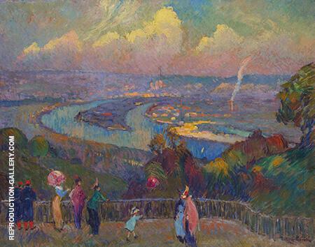 Rouen La Seine Vue Depuis Les Hauteurs De Caudebec By Robert Antoine Pinchon - Oil Paintings & Art Reproductions - Reproduction Gallery