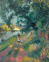Promenade Sur Le Chemin De Halage By Robert Antoine Pinchon