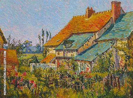 The Red Roofs 1903 By Robert Antoine Pinchon - Oil Paintings & Art Reproductions - Reproduction Gallery
