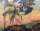 View of Mont-Gargan Setting Sun c1909 By Robert Antoine Pinchon