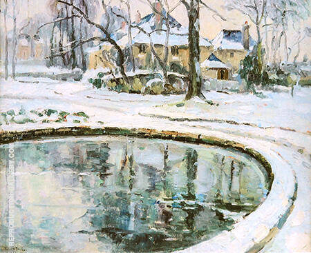 The Basin Snow By Robert Antoine Pinchon