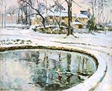 The Basin Snow By Robert Antoine Pinchon