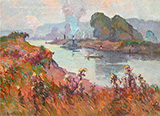 Seine River Bank By Robert Antoine Pinchon