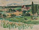Paysage de Dordogne 1947 By Emile Othon Friesz