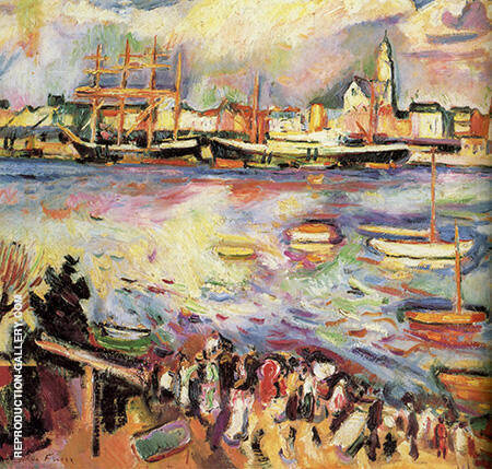 Reproduction of Port D'anvers 1906 by Emile Othon Friesz | Oil Painting Replica On CanvasReproduction Gallery