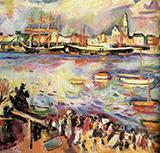 Port D'anvers 1906 By Emile Othon Friesz